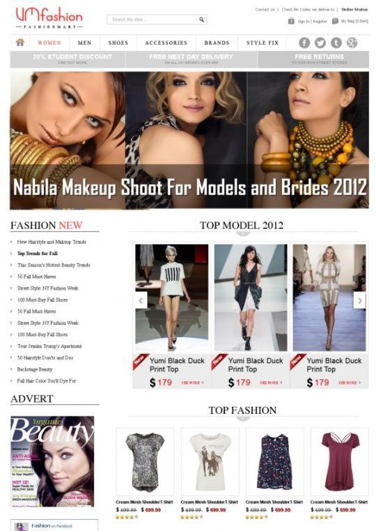 Joomla Fashion Virtuemart Template