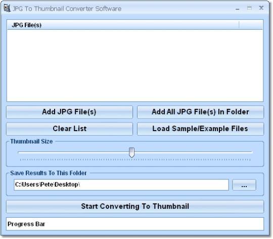 JPG To Thumbnail Converter Software