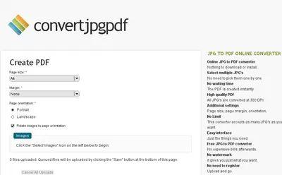 JpgPdf JPG to PDF Online Converter