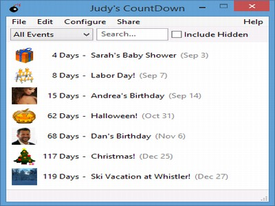 Judy's CountDown