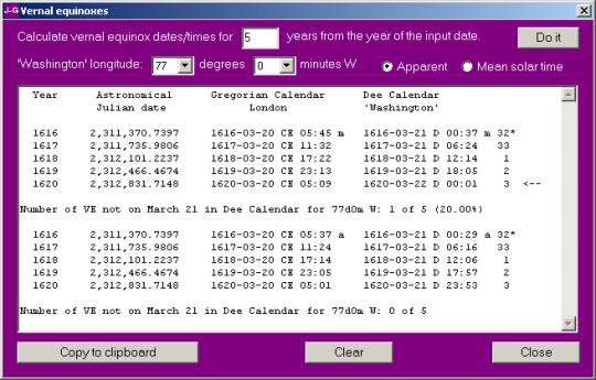 Julian-Gregorian-Dee Date Calculator