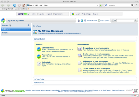 JumpBox for the Alfresco Content Management System