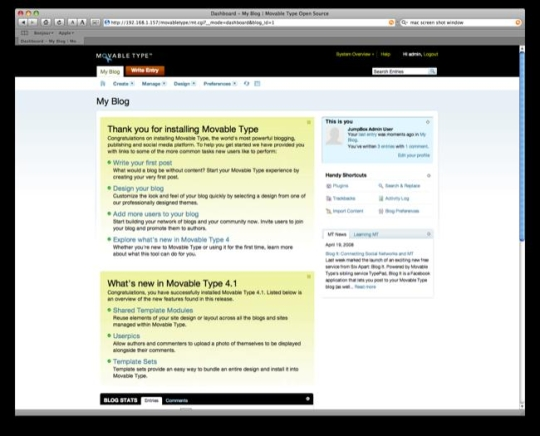 JumpBox for the Movable Type Blogging System