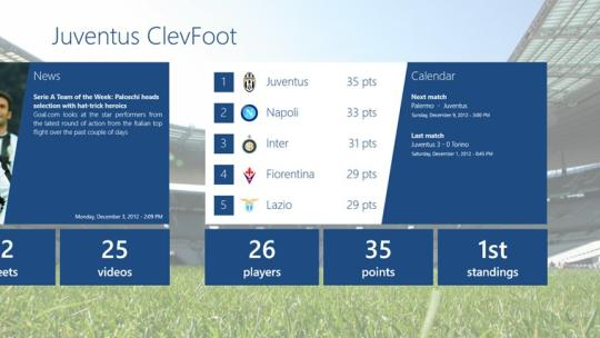 Juventus ClevFoot for Windows 8