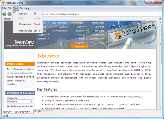 JxBrowser