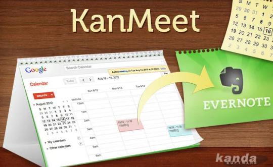 KanMeet Google Calendar Synchronizer for Evernote