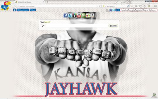 Kansas Jayhawks Theme for Firefox