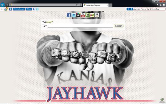 Kansas Jayhawks Theme for Internet Explorer