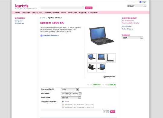 Kartris ASP.NET Shopping Cart