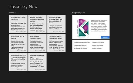 Kaspersky Now for Windows 8