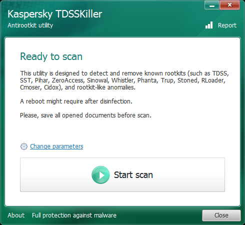 Kaspersky TDSSKiller Portable