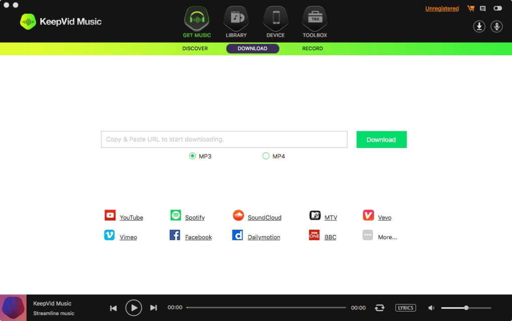 KeepVid Music for Mac