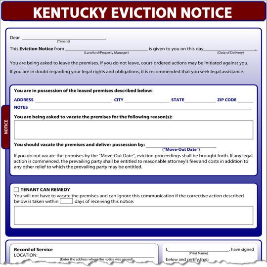 Kentucky Eviction Notice