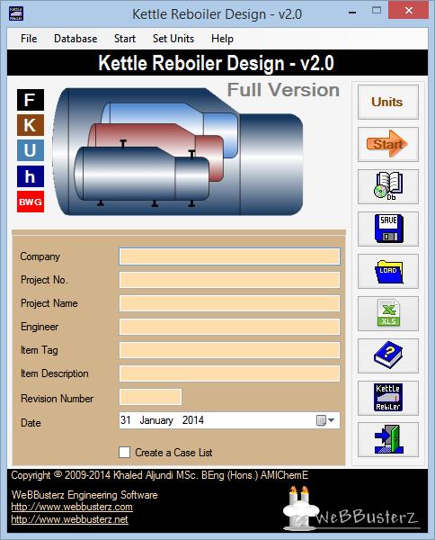 Kettle Reboiler Design