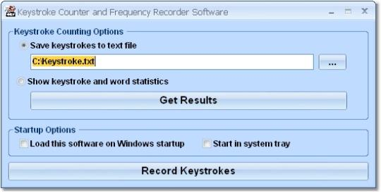 Keystroke Counter and Frequency Recorder Software