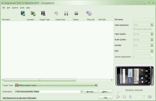 KingConvert DVD To Motorola Defy