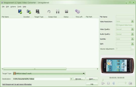 KingConvert LG Apex Video Converter