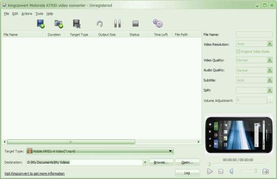 Kingconvert Motorola ATRIX Video Converter