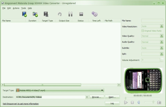 KingConvert Motorola Grasp WX404 Video Converter