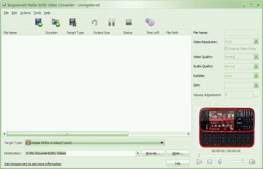 KingConvert Nokia 5250 Video Converter
