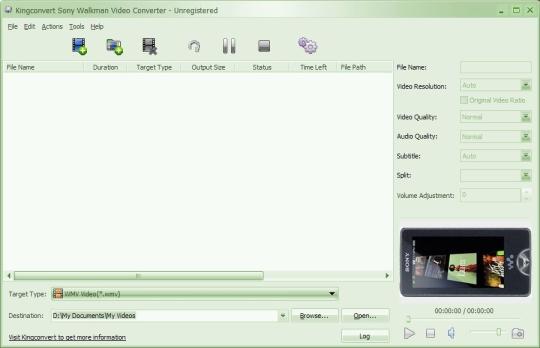 KingConvert Sony Walkman Video Converter