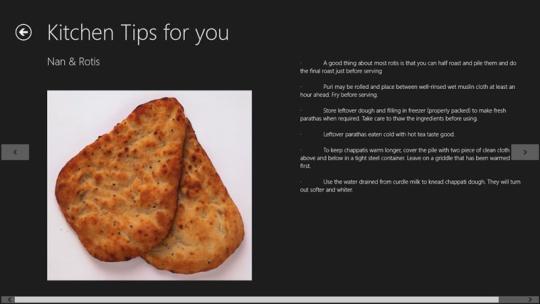 Kitchen Tips for Windows 8