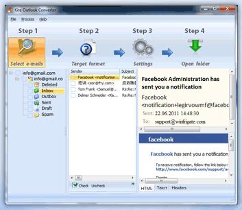 Kite WebMail Converter