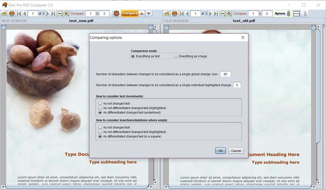 Kiwi Free PDF Comparer