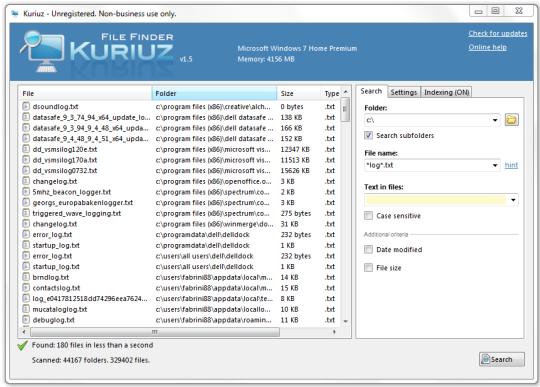 Kuriuz File Finder