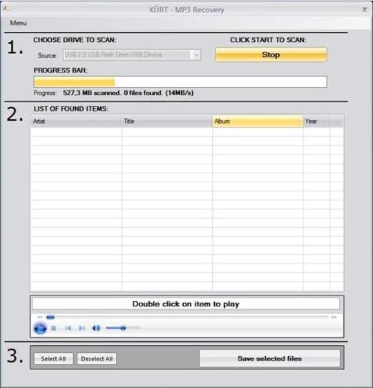 KURT MP3 Recovery