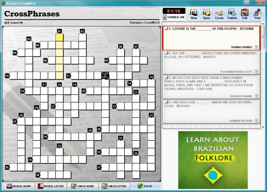 Kurupira Crossword Puzzle