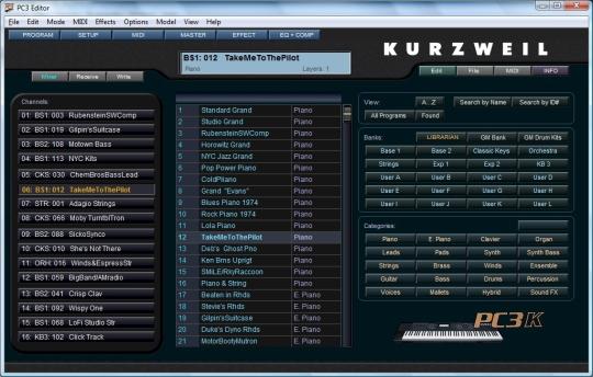 Kurzweil PC3 SoundEditor