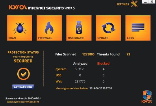 KYROL Internet Security 2015