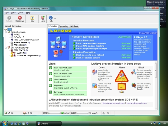 LANeye 2.3 Small Network Edition