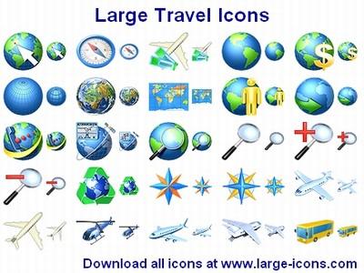 Large Travel Icons