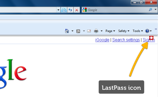 LastPass IE Anywhere