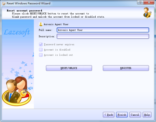 Lazesoft Recover My Password Home