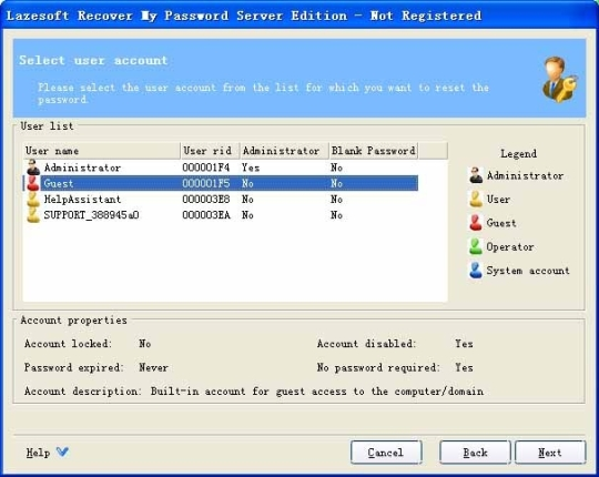 Lazesoft Recover My Password Server