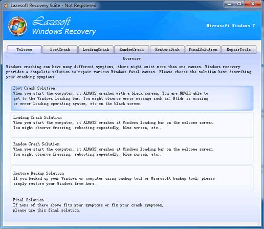Lazesoft Windows Recovery Home