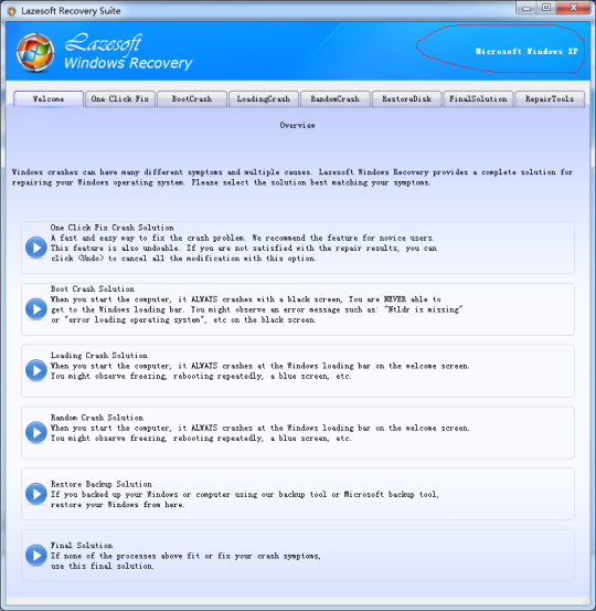 Lazesoft Windows Recovery Media Builder Home