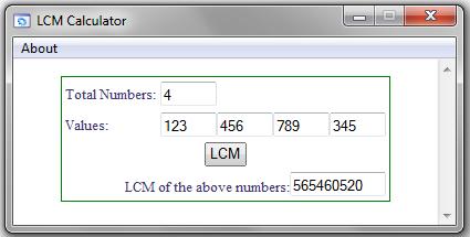 LCM Calculator