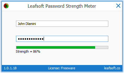 Leafsoft Password Strength Meter
