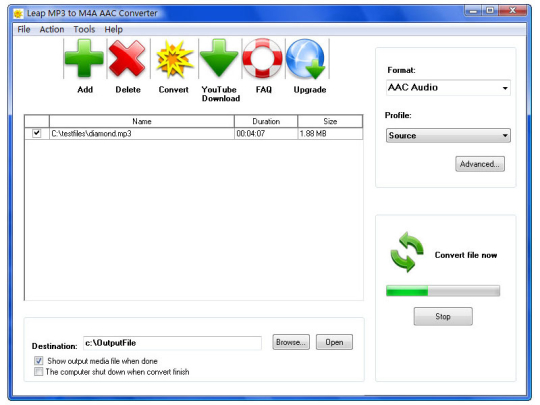 Leap Free MP3 to M4A AAC Converter