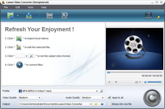 Leawo Free Video to FLV Converter