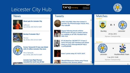 Leicester City Hub for Windows 8