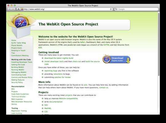 Leopard WebKit