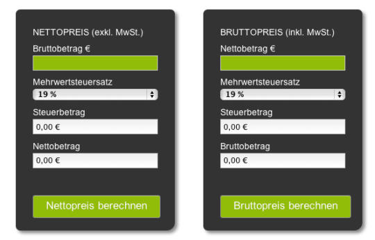 Lexoffice VAT Calculator (German)