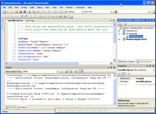 Lexpa InnoSetup for VS2005