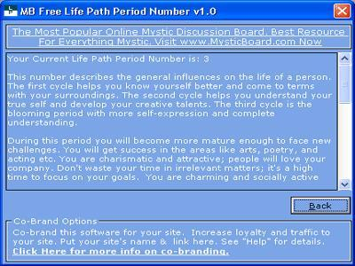 Life Path Period Number