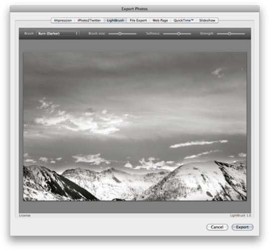 LightBrush for iPhoto